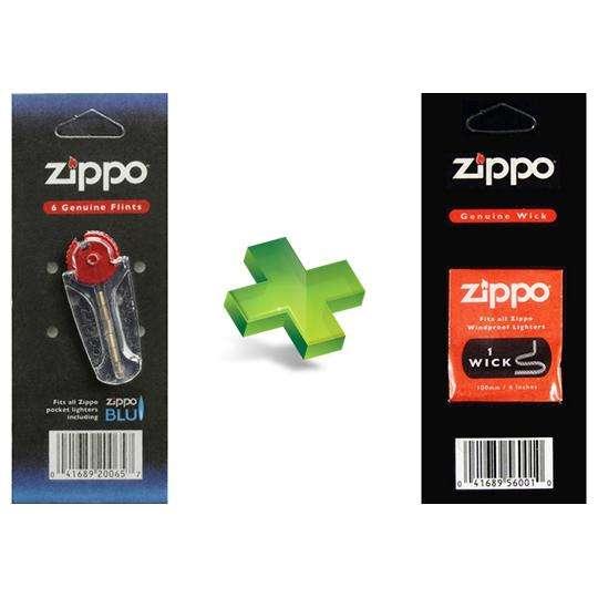 Practiset Zippo Dispensador x6 Piedras Tarjeta x1 Mecha 0