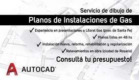 Planos de Gas - Dibujante AutoCAD 2D - Litoral Gas, Enargas, Camuzzi