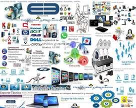 Soporte Técnico Computadoras, Camaras Seguridad, Impresoras, Tablets.
