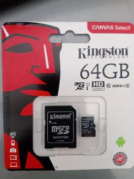 Memoria micro sd 64gb $25.000