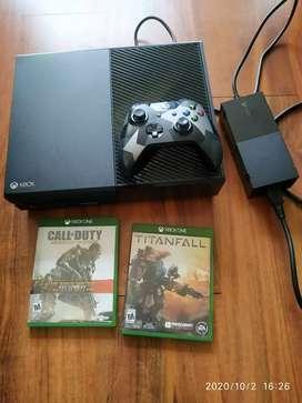 Xbox one 500 GB con 2 juegos originales