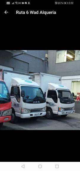 Se vende camión Jac 1045 con trabajo.