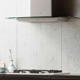 Campana Cocina con  Extractor Tamel vidrio recto  Cristal 90cm Acero Inox - Tst