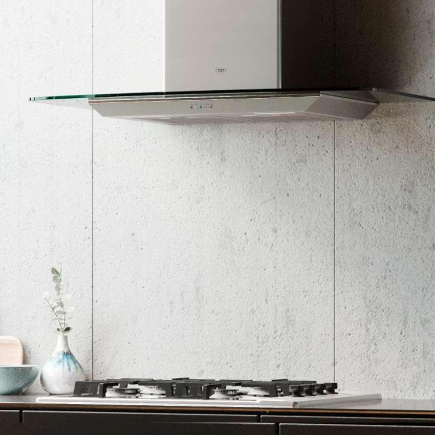 Campana Cocina Extractor Tamel Cristal 90cm Acero Inox - Tst 0