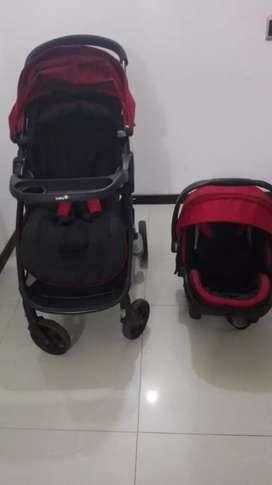 Coche para bebé + silla para carro