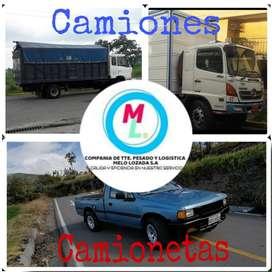 MUDANZAS CON CAMIONES Y CAMIONETAS