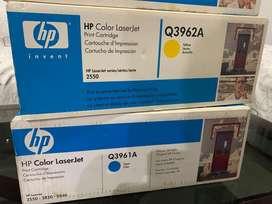 Toner Hp Laserjet 2550 Cyan Q3961A Magenta Q3963A Amarillo Q3962a