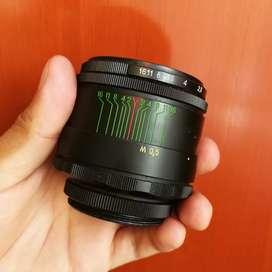 Lente Zenit Helios 58mm F/2 más Adaptador M42 para Canon y Nikon