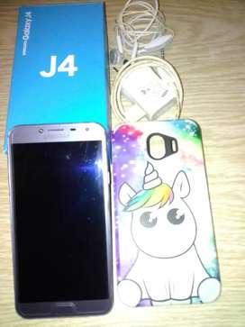 Vendo Samsung j4, seis meses d uso liberado ,con todos sus accesorios originales,caja y manual,n llevo