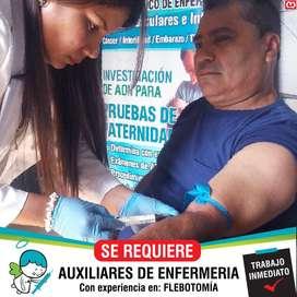 Auxiliar de Enfermeria - FLEBOTOMIA