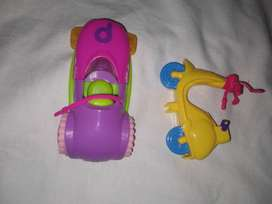 Polly Pocket Vehiculo Parque De Diversiones Figura Lloretoys