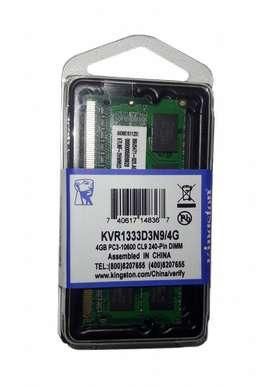 Memoria Ram Ddr3 4gb 1333 Mhz Kingston (Nuevo) Laptop segunda mano  Perú
