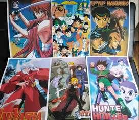Afiches series de anime, Marvel y DC. 6X $10.000