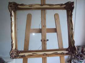 antiguo marco de cuadro madera molduras 60 x 50