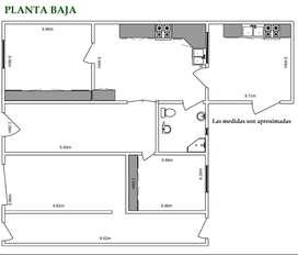 Casa PB 5 ambientes + Depto PA 5 ambientes