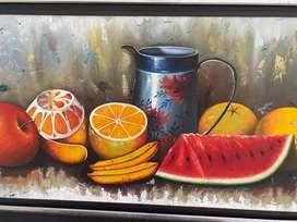 Hermoso Cuadro en oleo de frutas