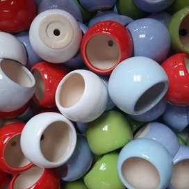 Materas en cerámica pequeñas 12 unidades