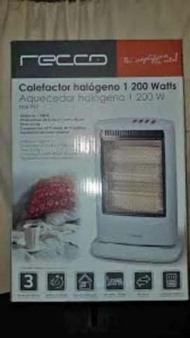 Calefactor Recco nuevo sellado 1200w