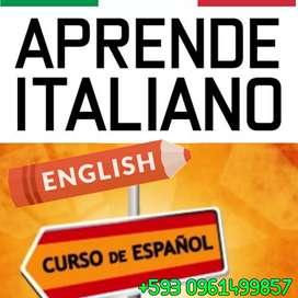 Aprende o refuerza tres idiomas: italiano, inglés y español