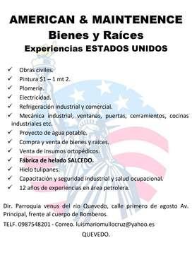 OFERTA DE SERVICIOS DE MANTENIMIENTOS Y CONSTRUCCIÓN
