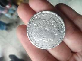Moneda de un dólar en plata De 1921