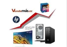 Computador Pc Hp Mini I7 8700 8gb 1tb Wifi Monitor 32