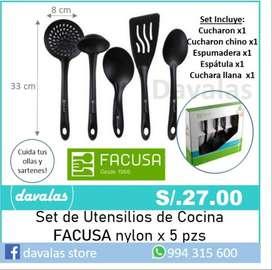 Set de utensilios 5 piezas FACUSA