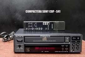 Compactera Sony Compact Disc Player mas control vintage No Pioneer