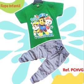 Conjuntos Jogger y Camiseta De Paw Patrol Niño
