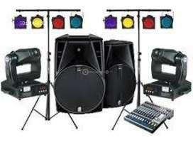 sonido alquiler,eventos,luces,consolas,dj