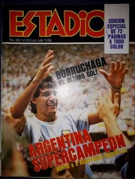 Revista Estadio Edicion Especial A Color Argentina Campeon Del Mundo 1986
