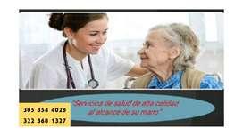 Servicio de  enfermeras a domicilio está disponible en toda Bogotá, para todo tipo de cuidado y necesidad.
