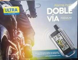 Con instalacion Alarma doble via para moto