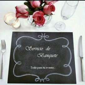 Banquete Alquiler: Mesas Sillas Vajilla
