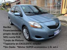 Toyota YARIS 2009 AUTOMATICO Sedan Recibo & FINANCIO