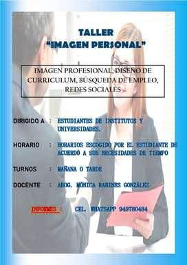 TALLER DE IMAGEN PERSONAL - ETIQUETA SOCIAL