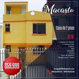 Macasto Conjunto Valle Hermoso Casa de 2 pisos con proyeccion a 3