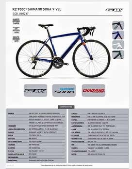 Bicicleta GW Shimano SORA K2 - 700C/ 9 Velocidades