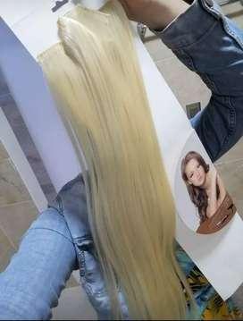 Extensiónes de cabello seminaturales