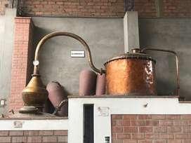 Se vende Alambique de Cobre con capacidad de 800 litros