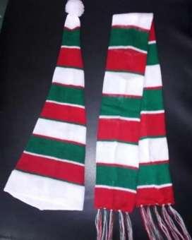 Vendo bufandas y gorros para navidad