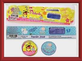 Etiquetas Para Compotas 100 Personalizadas x 10