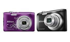 Camara Nikon Coolpix A100 20 Mp 5x Zoom Video Hd Purple!!