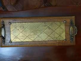 Antigua tabla y bronce, tentempies, decorativa y funcional