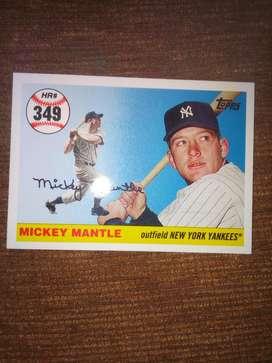 Tarjeta de Béisbol Mickey Mantle New Yor