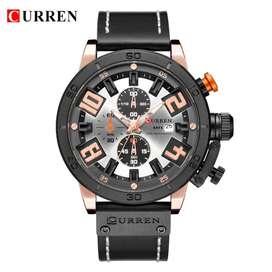 Reloj Analógico Curren Con Cronómetro, Fechador, Con Caja