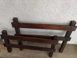 Diseño exclusivo, cama sencilla en madera