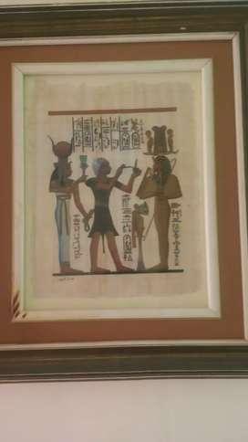 Venta de cuadro replica de papiro