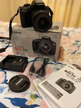Canon EOS Rebel T6 Digital Camera (casi sin uso)