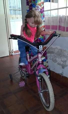 Bici para niña rodado 14 de muy buena calidad